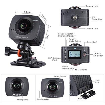 andoer 360 grad kamera digitalkamera test 2018 2019. Black Bedroom Furniture Sets. Home Design Ideas