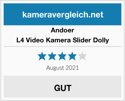 Andoer L4 Video Kamera Slider Dolly Test