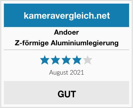 Andoer Z-förmige Aluminiumlegierung Test