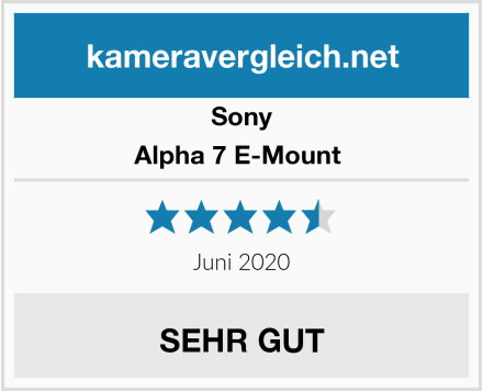 Sony Alpha 7 E-Mount  Test