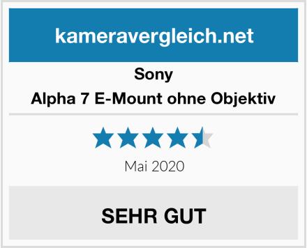 Sony Alpha 7 E-Mount ohne Objektiv Test
