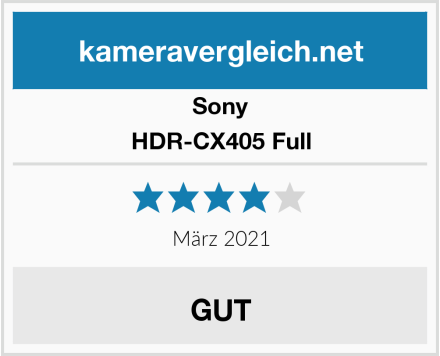 Sony HDR-CX405 Full Test