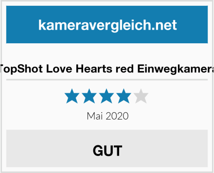 TopShot Love Hearts red Einwegkamera Test