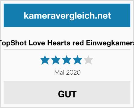 TopShot Love Hearts red Einwegkamera Test
