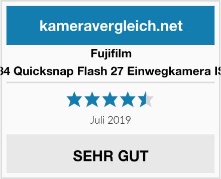 Fujifilm 7130784 Quicksnap Flash 27 Einwegkamera ISO 400 Test