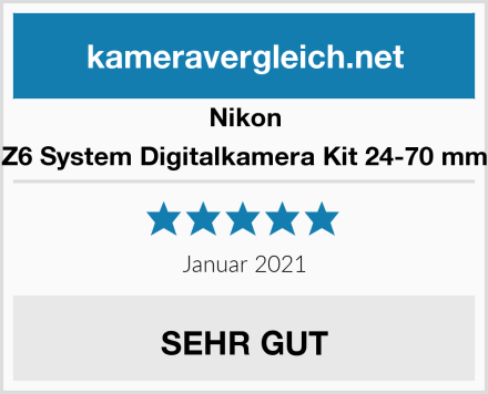 Nikon Z6 System Digitalkamera Kit 24-70 mm Test