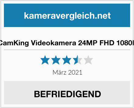 CamKing Videokamera 24MP FHD 1080P Test