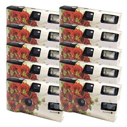 Einwegkamera / Hochzeitskamera Rote Rosen